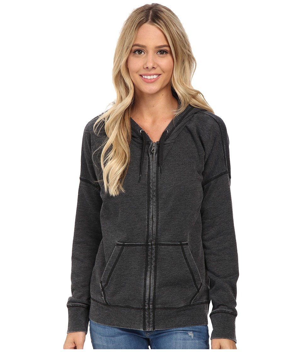 Volcom - Lived in Fleece Zip Top (Black) Women's Long Sleeve Pullover