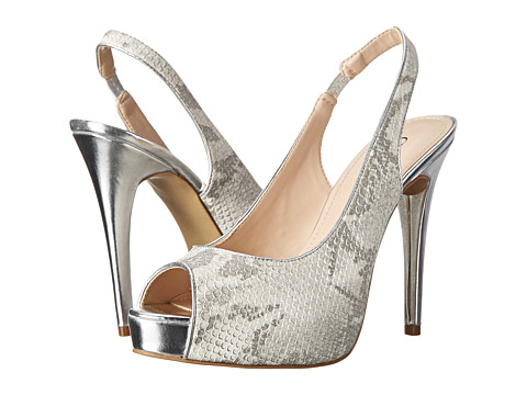 GUESS - Aerra (White 17/Silver) High Heels
