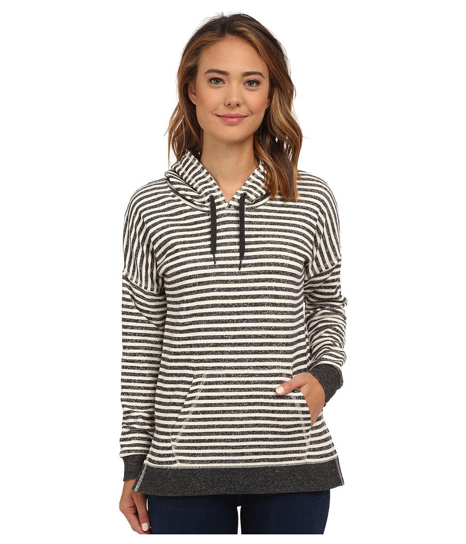 Volcom - Lived in Stripe Pullover (Black) Women's Long Sleeve Pullover
