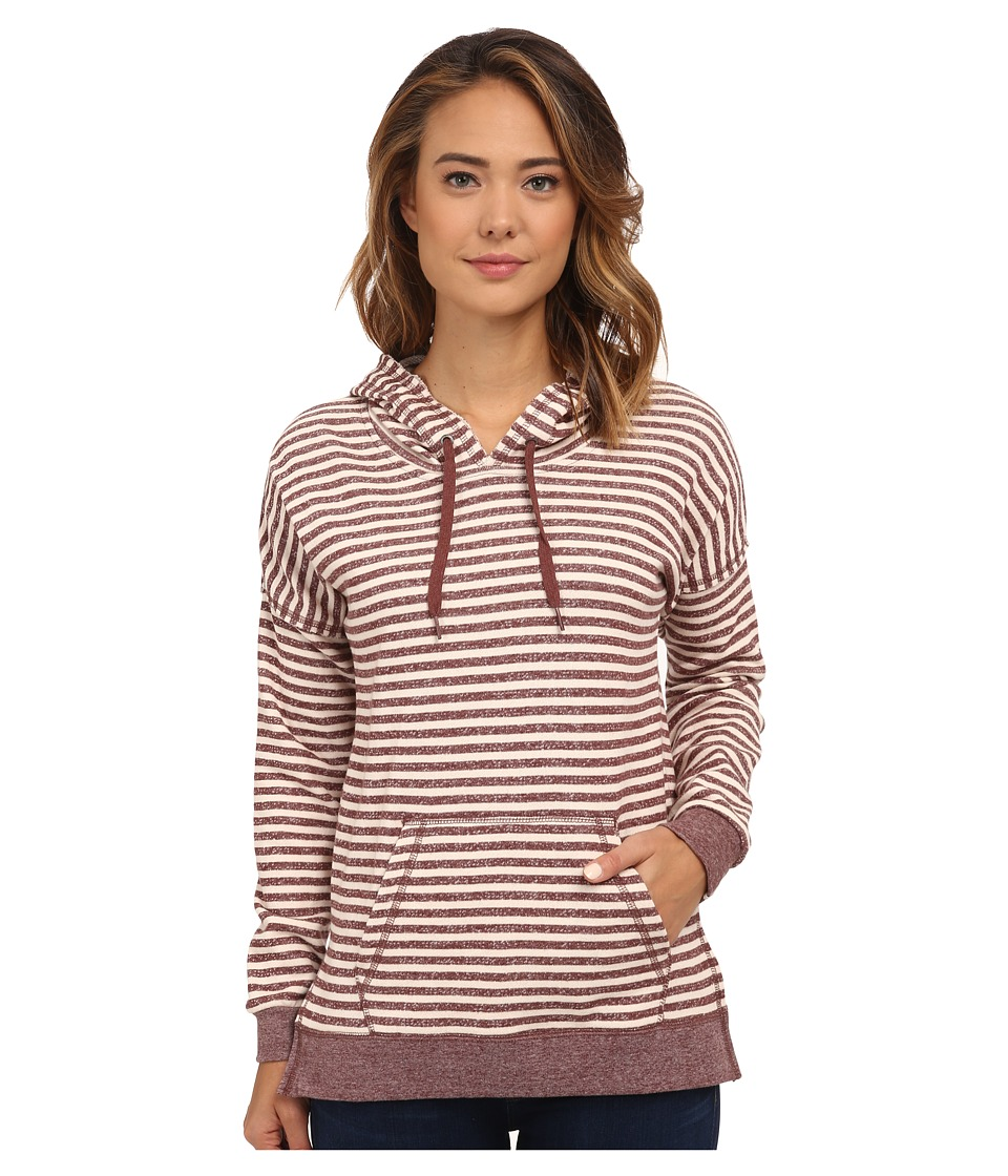 Volcom - Lived in Stripe Pullover (Cognac) Women's Long Sleeve Pullover