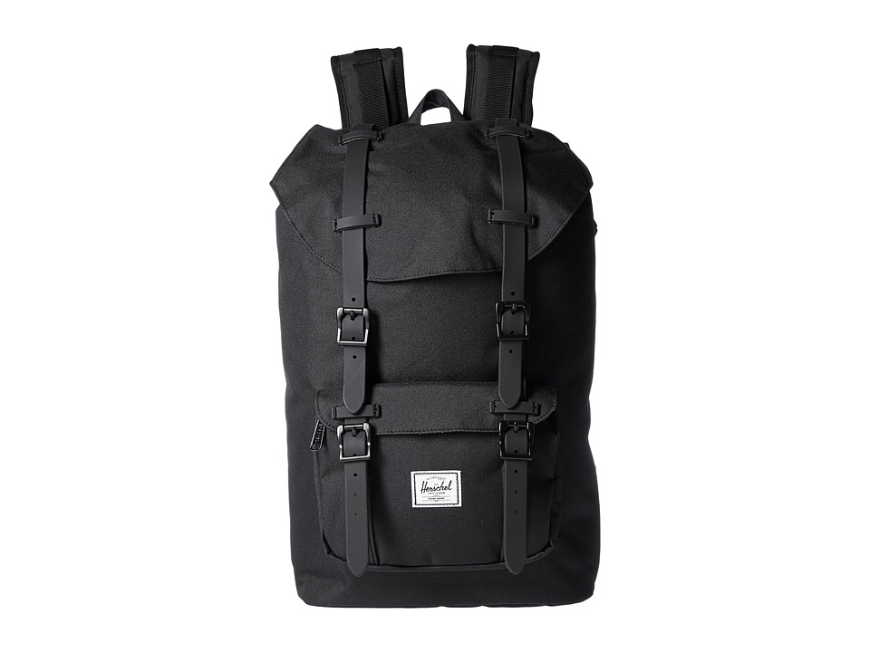 Herschel Supply Co. - Little America Mid-Volume (Black/Black Rubber) Backpack Bags