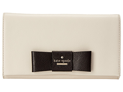 Kate Spade New York - Julia Street Tally (Canvas/Black) Clutch Handbags