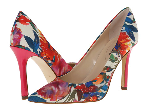 GUESS - Eloy (Washed Out Floral Chiffon/Pink Multi) High Heels