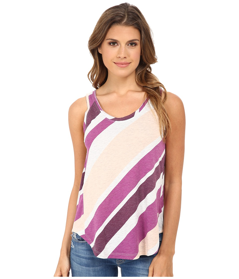 Alternative - Melange Jersey Back Strap Tank Top (Sour Grape Endless Summer Stripe) Women's Sleeveless