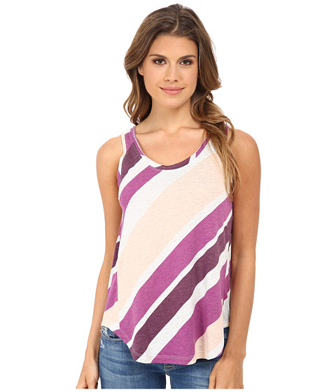 Alternative - Melange Jersey Back Strap Tank Top (Sour Grape Endless Summer Stripe) Women