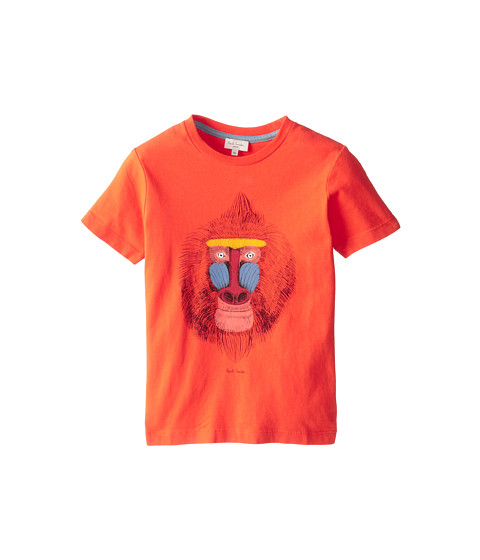 Paul Smith Junior - Baboon T-Shirt (Toddler/Little Kids) (Vermillon) Boy's Short Sleeve Pullover