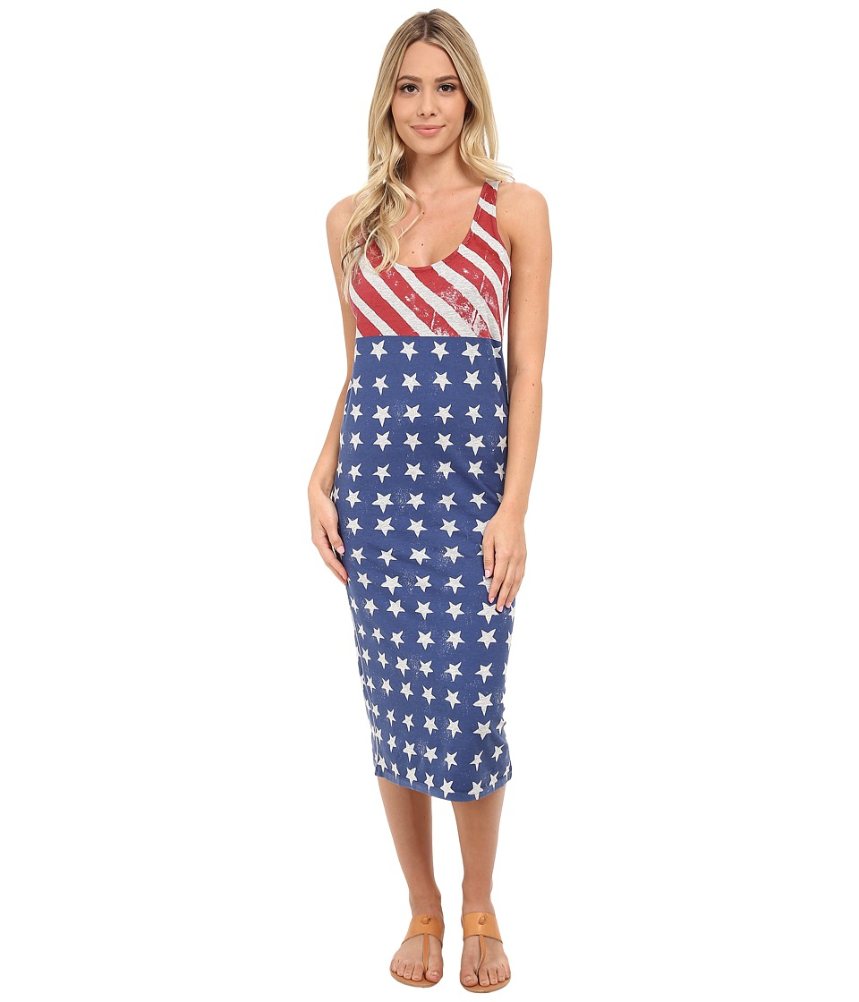 Alternative - Modal Racer Midi (Heather Grey Stars/Stripes) Women's Dress