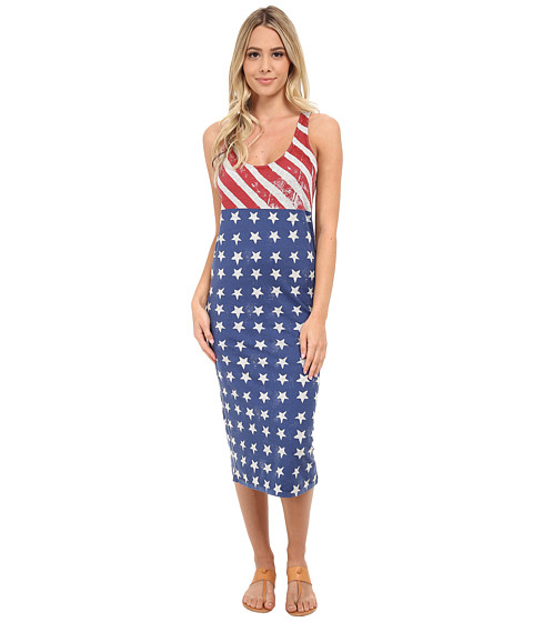 Alternative - Modal Racer Midi (Heather Grey Stars/Stripes) Women
