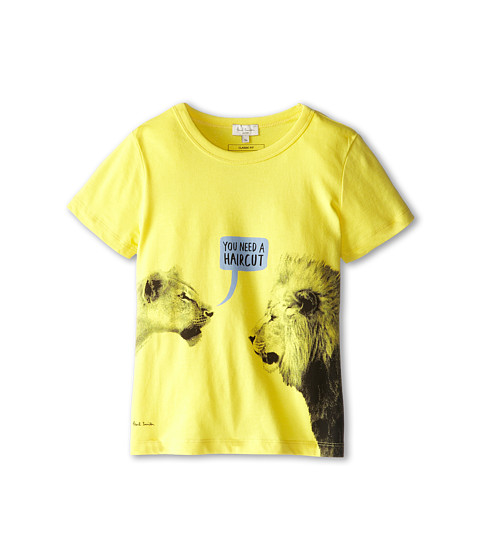 Paul Smith Junior - Lion Comic T-Shirt (Big Kids) (Sun) Boy's Short Sleeve Pullover