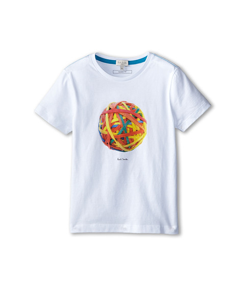 Paul Smith Junior - Rubberband Ball T-Shirt (Big Kids) (White) Boy's T Shirt