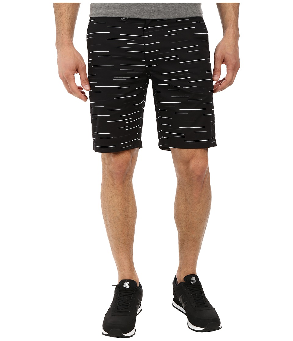 Publish - Fable Streak Stripe Poplin Shorts (Black) Men's Shorts