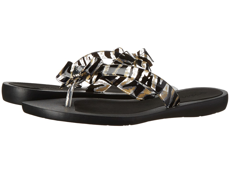 GUESS - Titaney (Clear/Natural Leopard) Women's Sandals