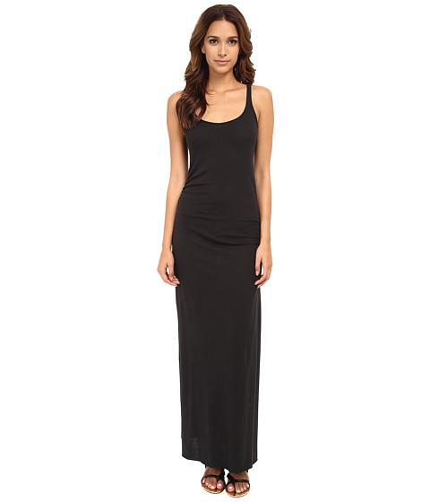 Alternative - Eco Jersey Ruched Maxi (Eco True Black) Women's Dress