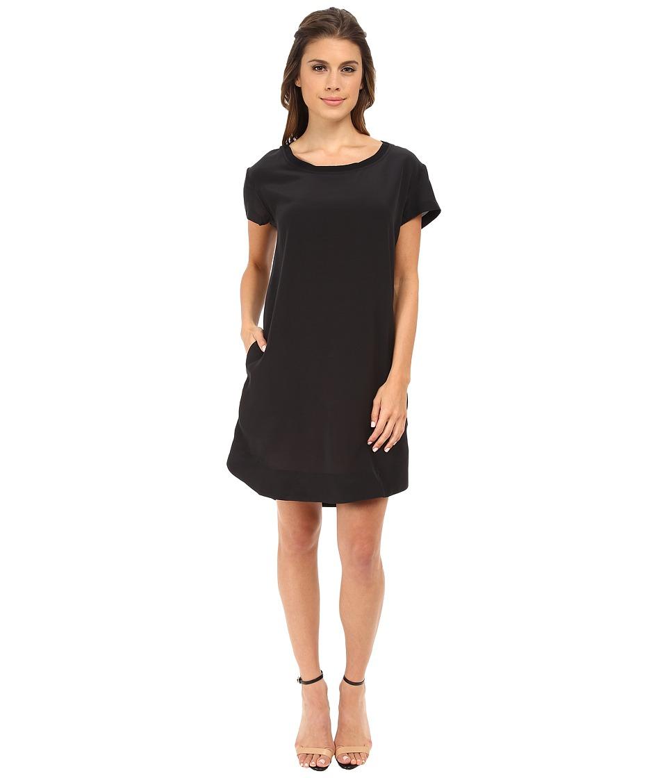 Alternative - Silk T-Shirt Dress (Raven) Women