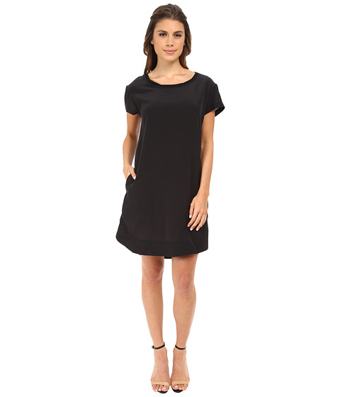 Alternative - Silk T-Shirt Dress (Raven) Women