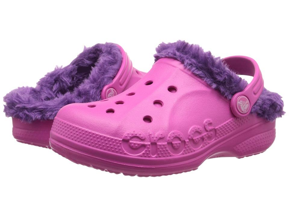 Crocs Kids - Baya New Liner Clog (Toddler/Little Kid) (Neon Magenta/Amethyst) Kids Shoes