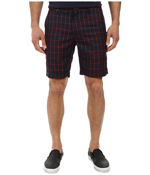 Publish - Carlo Grid Plaid Shorts (Navy) Men's Shorts