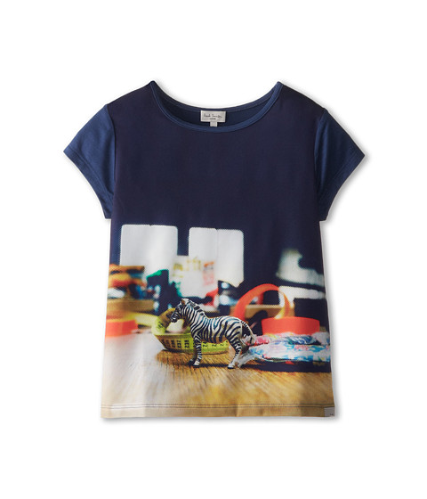 Paul Smith Junior - Zebra Table Shirt (Toddler/Little Kids) (Elecrical Blue) Girl's Clothing