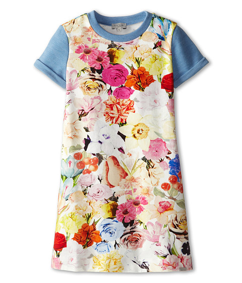 Paul Smith Junior - Flower Print Dress (Toddler/Little Kids) (Multicolor) Girl's Dress