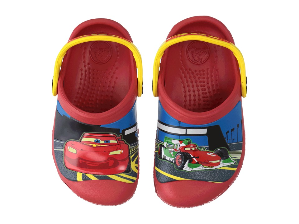 Crocs Kids - McQueen Francesco Clog (Toddler/Little Kid) (Flame/Yellow) Boys Shoes