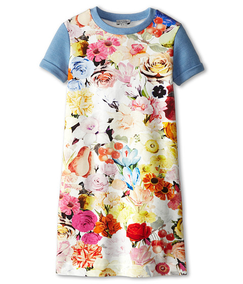 Paul Smith Junior - Flower Print Dress (Big Kids) (Multicolor) Girl's Dress