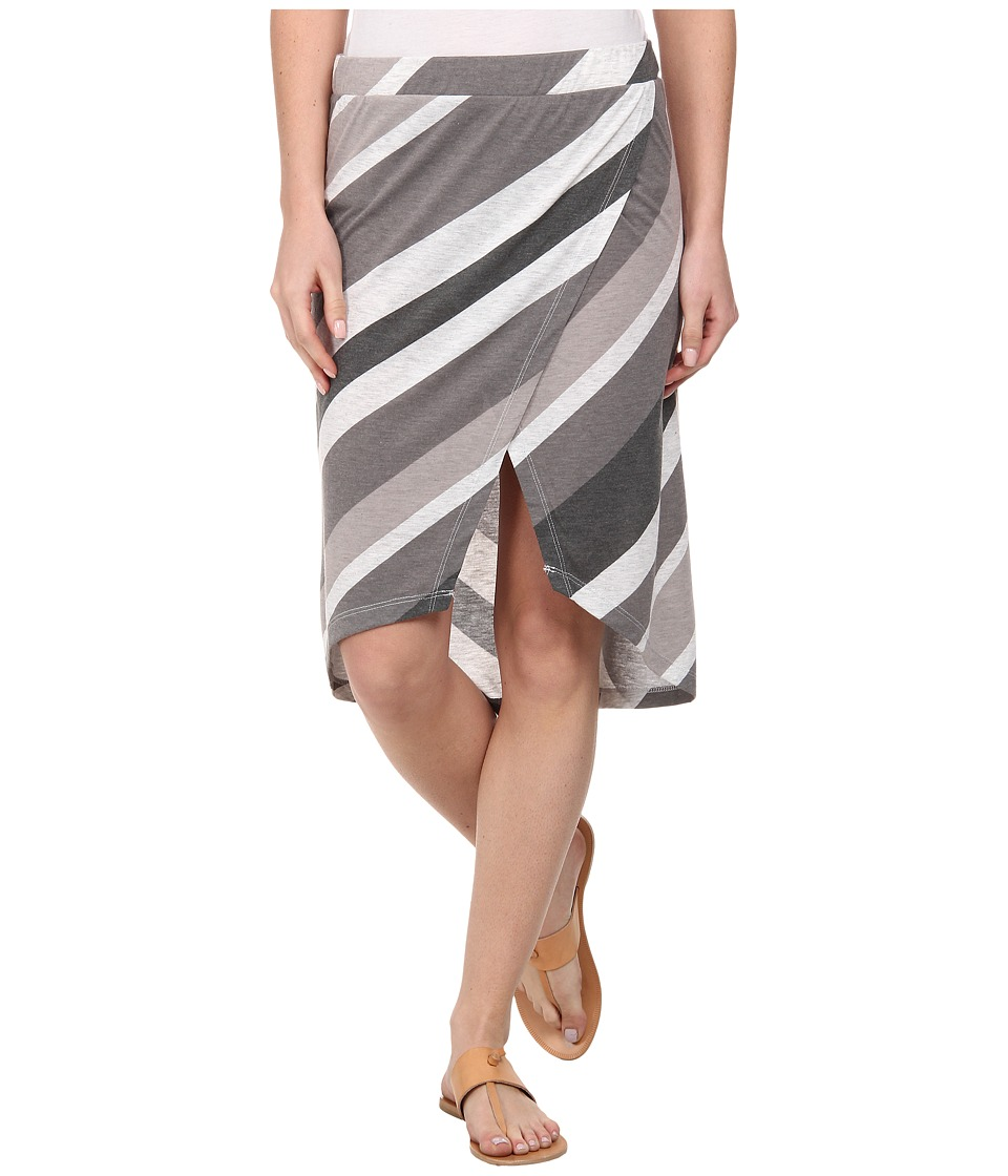 Alternative - Melange Jersey Wrap Skirt (Raven Endless Summer Stripe) Women's Skirt