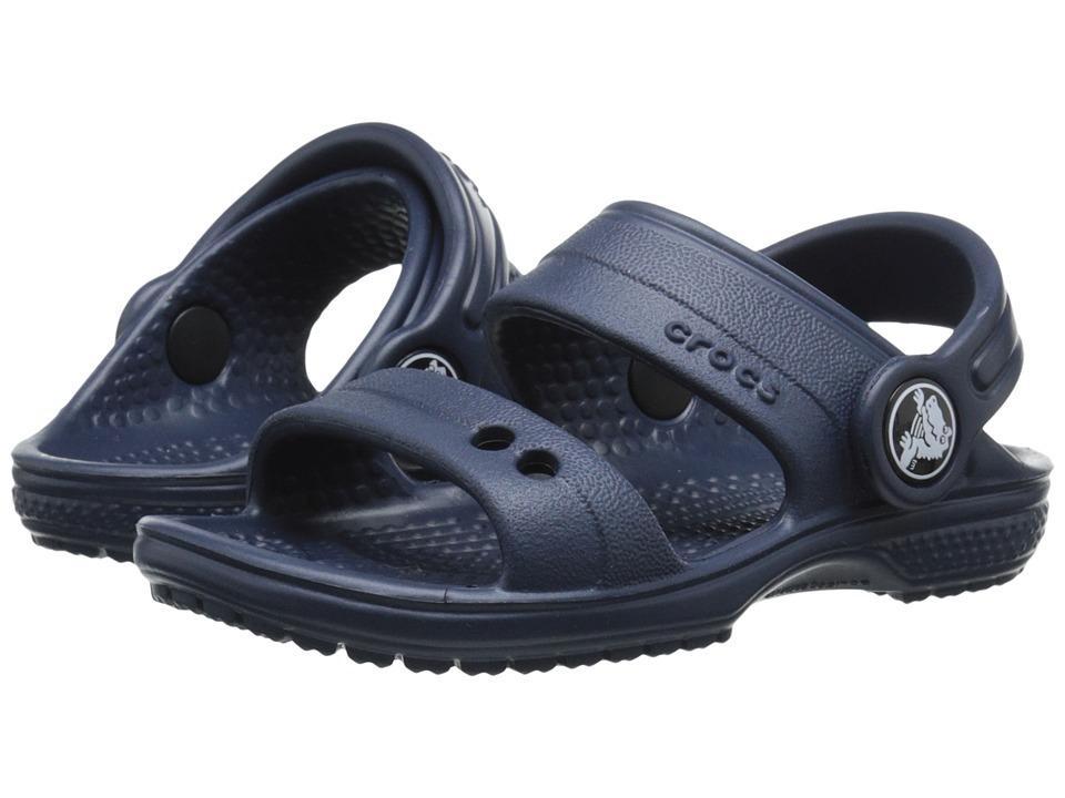 Crocs Kids - Classic Sandal (Toddler/Little Kid) (Navy) Kids Shoes