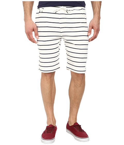 Publish - Hemp Striped Knit Short (White) Men's Shorts