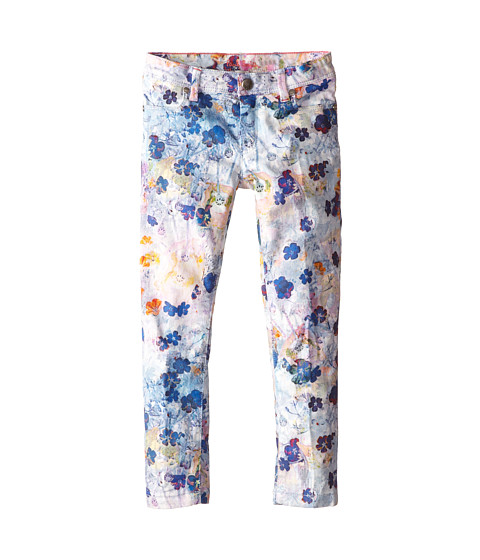 Paul Smith Junior - Flower Print Jeans in Elecrical Blue (Toddler/Little Kids) (Elecrical Blue) Girl's Jeans