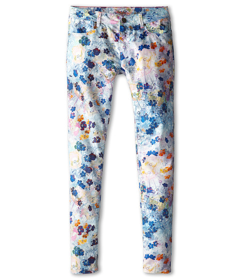 Paul Smith Junior - Flower Print Jeans in Elecrical Blue (Big Kids) (Elecrical Blue) Girl