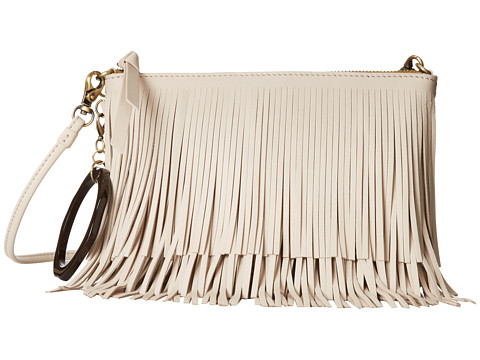 Sam Edelman - Clover Fringe Pouch (Ivory) Travel Pouch