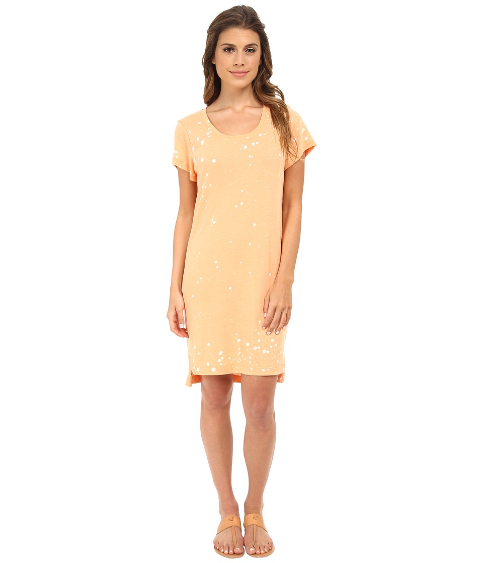 Alternative - Eco Jersey T-Shirt Dress (Eco True Nectarine Ink Splatter) Women's Dress
