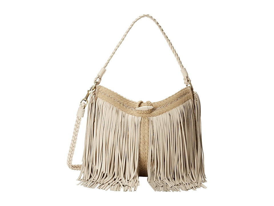 Sam Edelman - Sienna Fringe Satchel (Ivory) Satchel Handbags