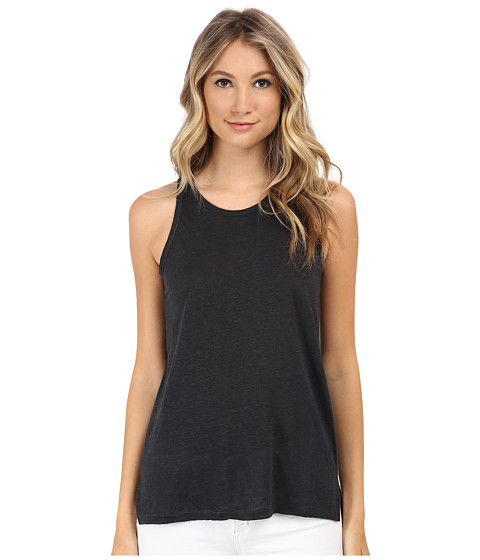 Alternative - Linen Scuba Tank Top (Raven) Women's Sleeveless