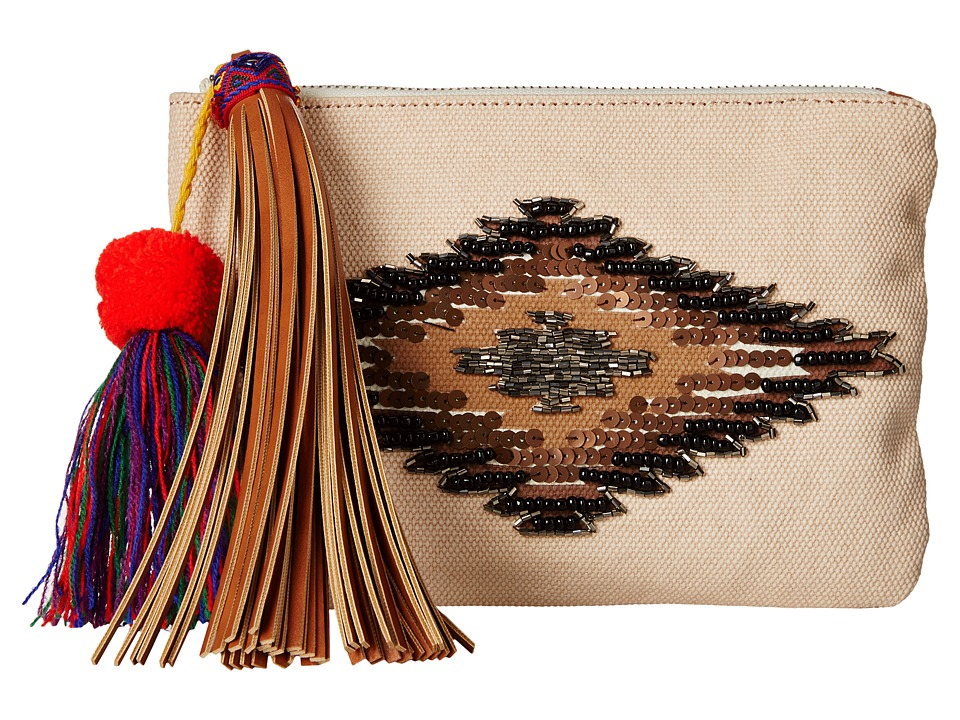 Sam Edelman - Carnie Tribal Pouch (Natural) Travel Pouch