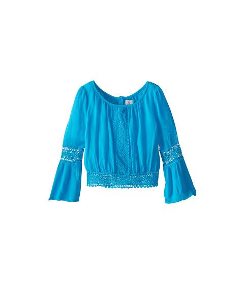 Ella Moss Girl - Makayla Crochet Top (Big Kids) (Turquoise) Girl