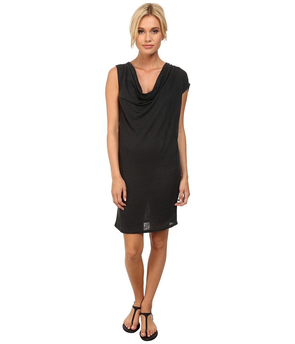 Alternative - Linen Cowl Dress (Raven) Women's Dress