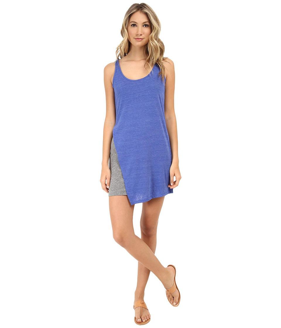 Alternative - Eco Jersey Asymmetrical Dress (Eco True Sapphire Blue) Women's Dress