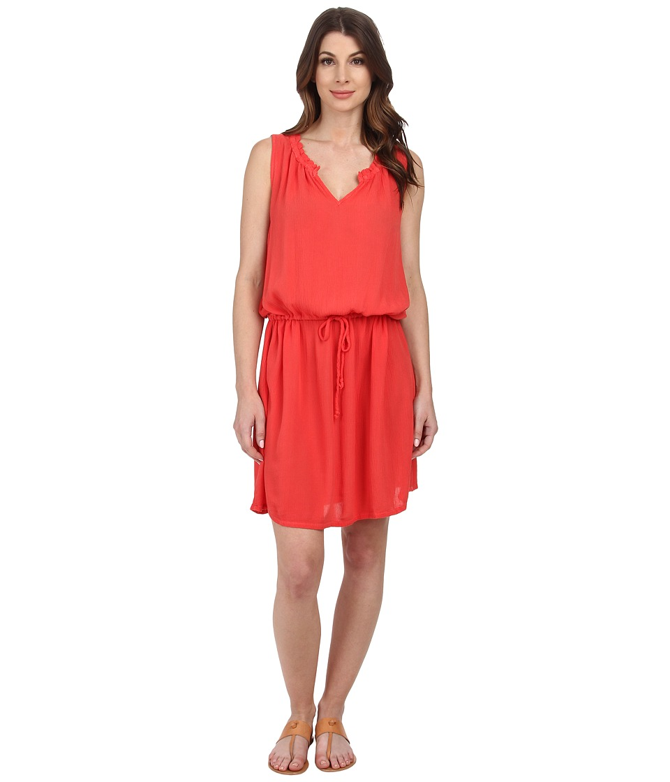 Allen Allen Keyhole Tank Dress (Tangelo) Women