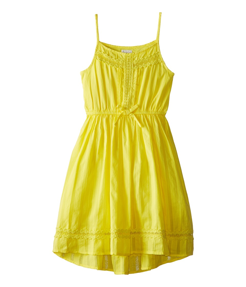 Ella Moss Girl - Hailey Dress (Big Kids) (Yellow) Girl's Dress