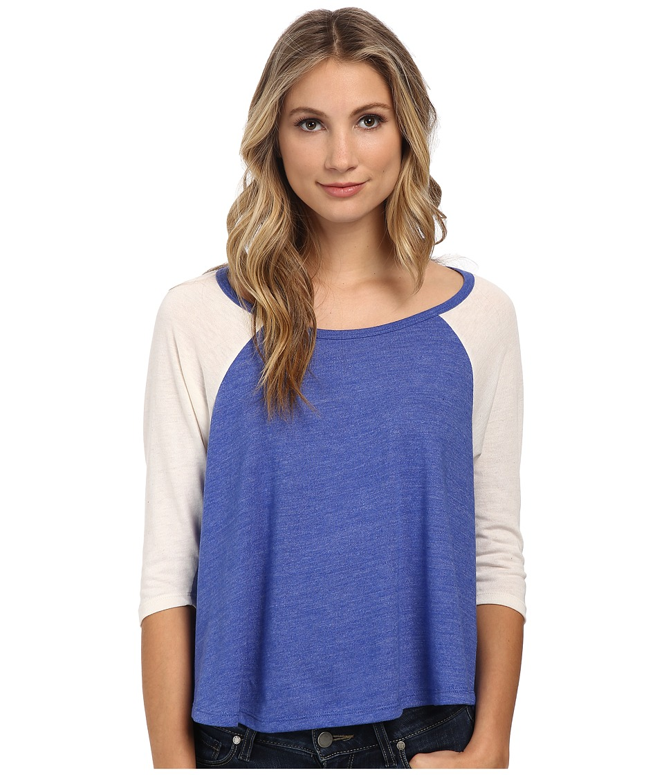 Alternative - Eco Jersey Raglan Baseball Tee (Eco True Sapphire Blue) Women's Clothing