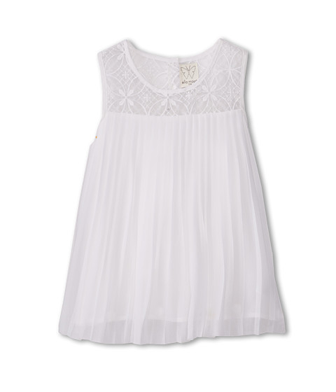 Ella Moss Girl - Sofia Woven Pleated Top (Big Kids) (White) Girl