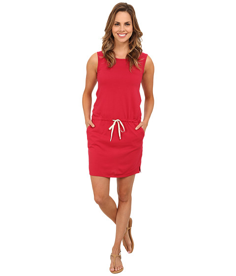 Allen Allen - Tank Dress with Side Slits (Red) Women