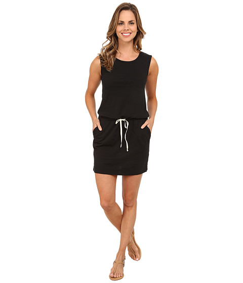 Allen Allen - Tank Dress with Side Slits (Black) Women's Dress