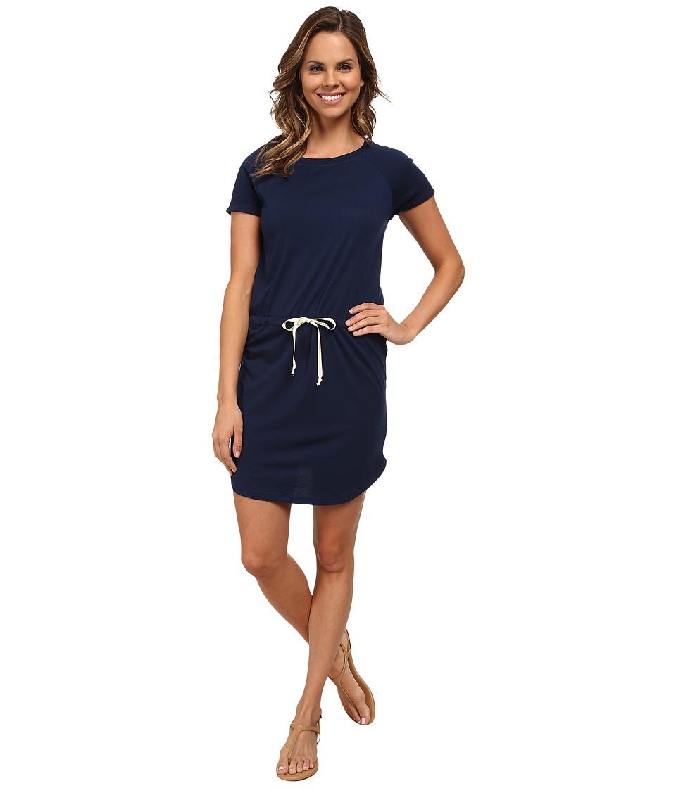 Allen Allen - Raglan Roll Sleeve Dress (Lapis) Women's Dress