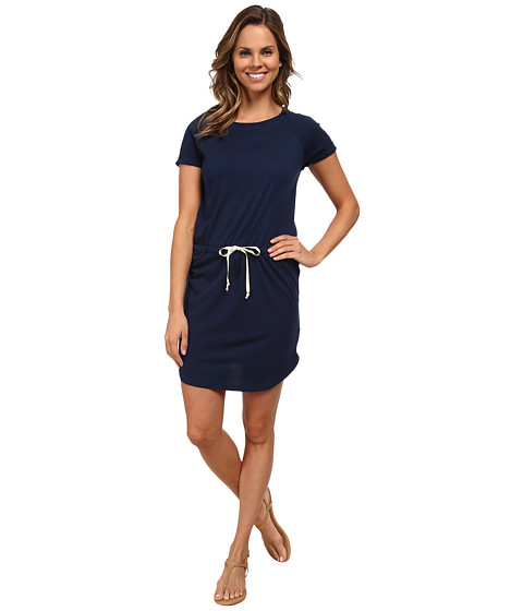 Allen Allen - Raglan Roll Sleeve Dress (Lapis) Women