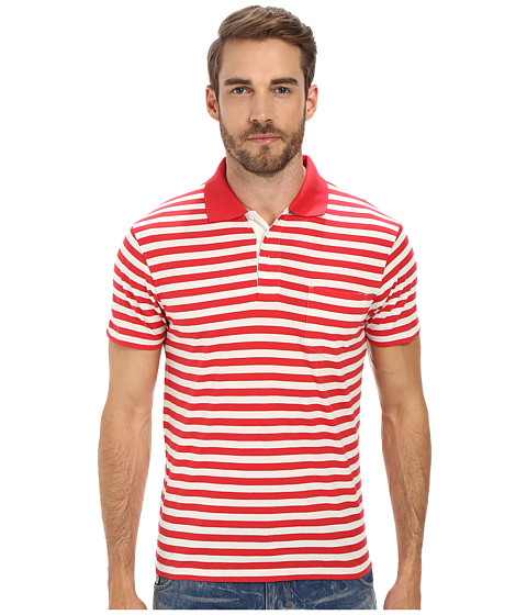 Gant Rugger - R. Stripe Polo (Classic Red) Men