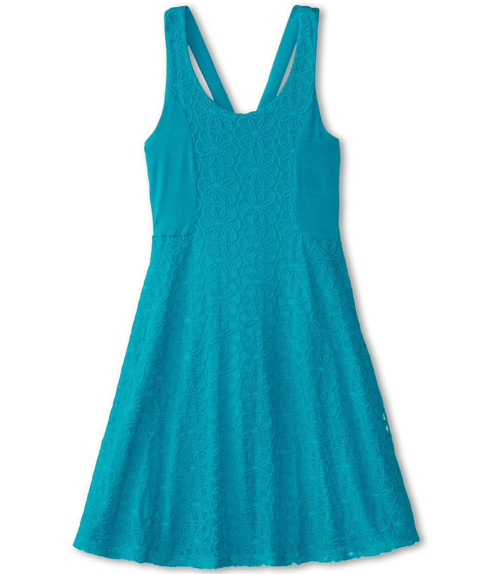 Ella Moss Girl - Lily Lace Dress (Big Kids) (Aqua) Girl's Dress