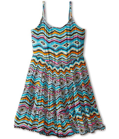 Ella Moss Girl - Claire Woven Dress (Little Kids) (Print) Girl's Dress
