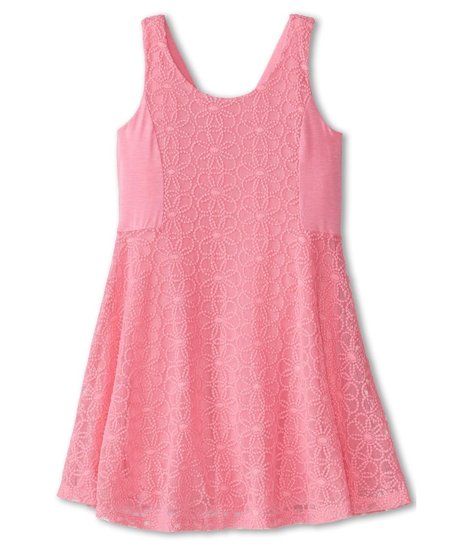 Ella Moss Girl - Lily Lace Dress (Little Kids) (Pink) Girl